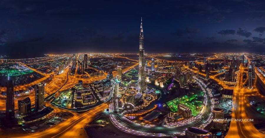 Burj Khalifa at night, Dubai, UAE
