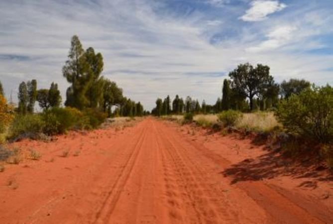Red sand road