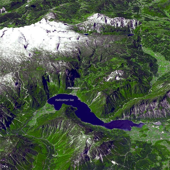 Satellite Image of Alps