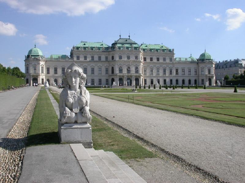 The castle Belvedere in Vienna