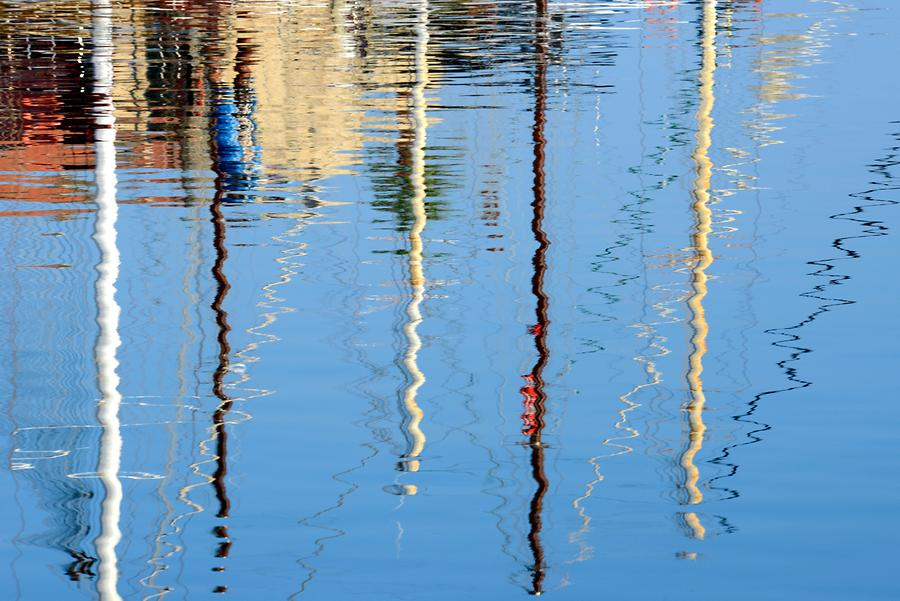 Girne - Harbour; Reflections