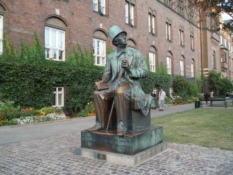 Statue of author, Copenhagen