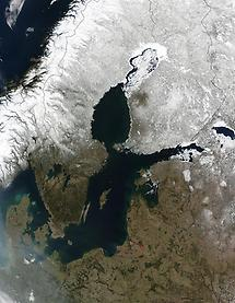 South and east, Baltic Sea