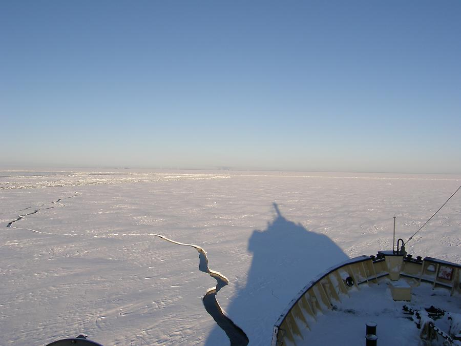 On the icebreaker Sampo from Kemi in the Gulf of Bothnia
