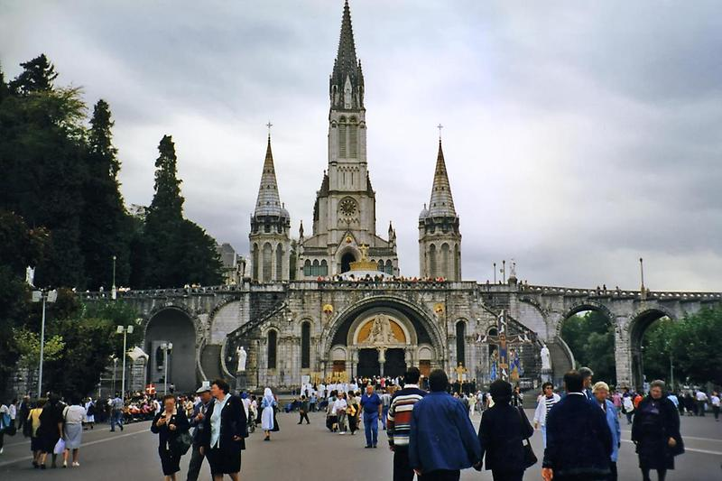 Visitors at Lourdes