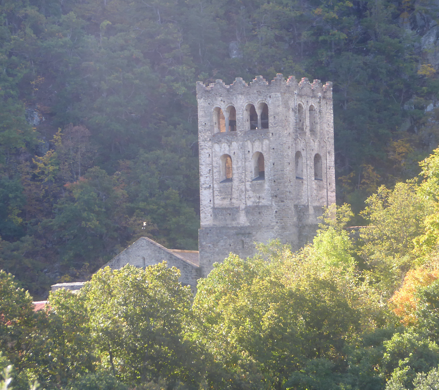 The tower of the abbey Saint Martin, Photo: H. Maurer, 2015
