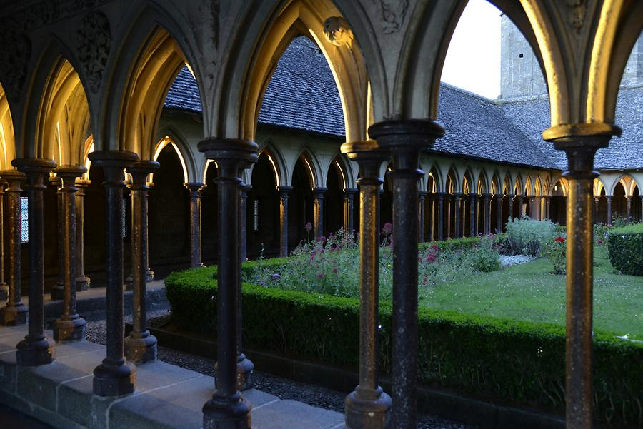 Mont St-Michel - Cloister at Night