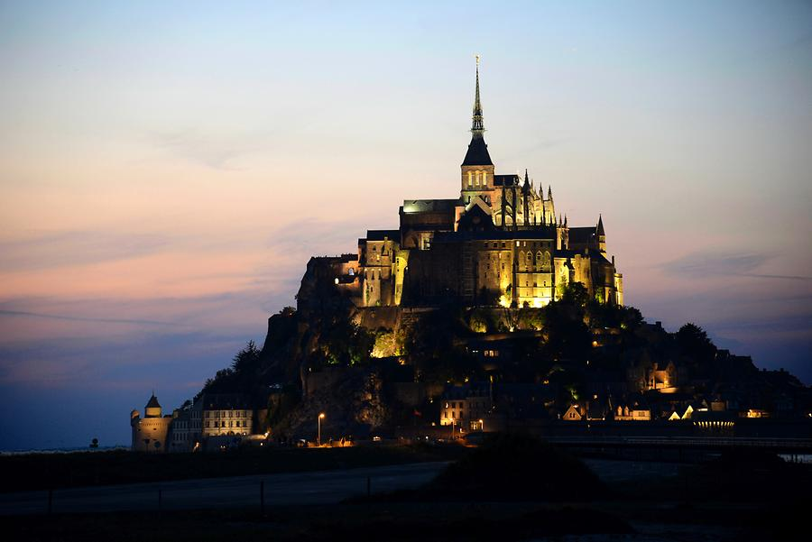Mont St-Michel at Night