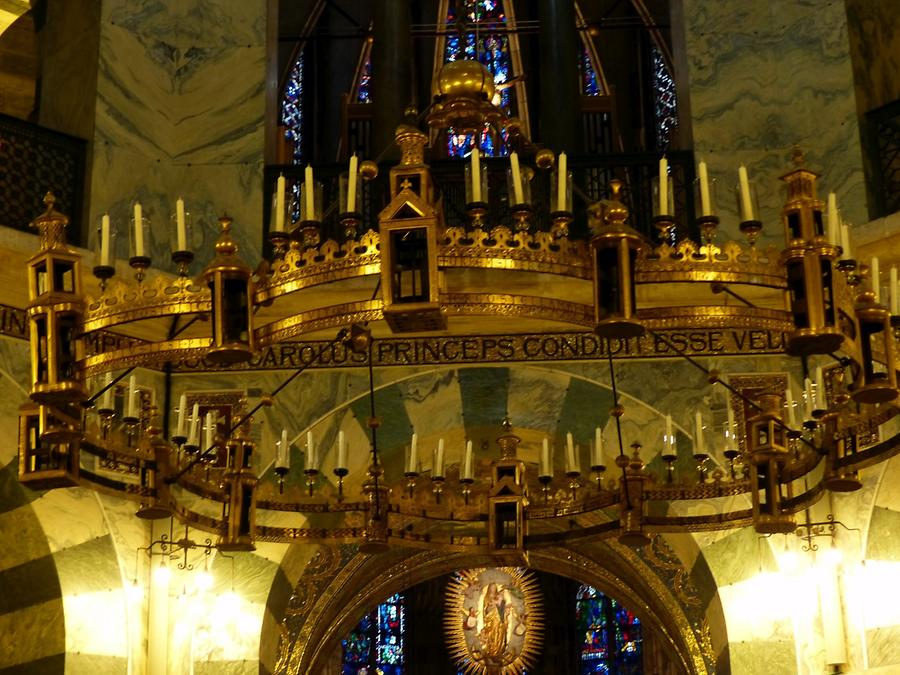 Aachen - Cathedral; Barbarossa Chandelier