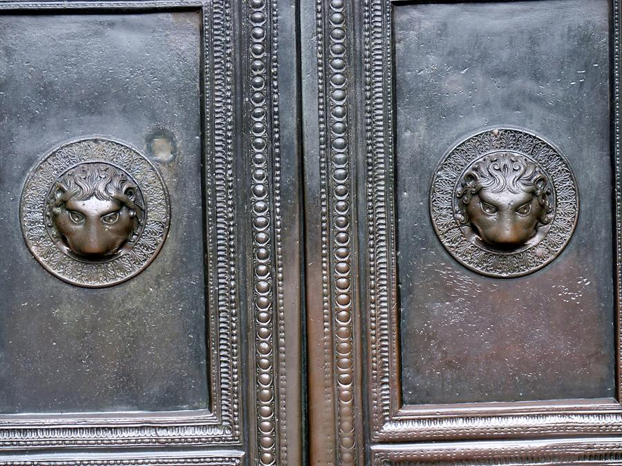 Aachen - Cathedral; Bronze Doors