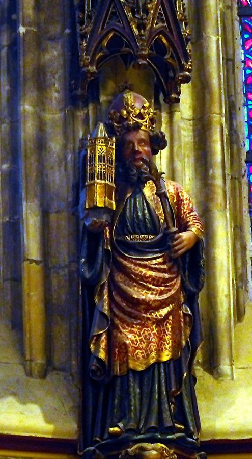 Aachen - Cathedral; Statue of Charlemagne