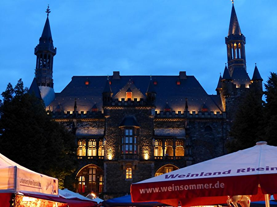 Aachen - Town Hall at Night