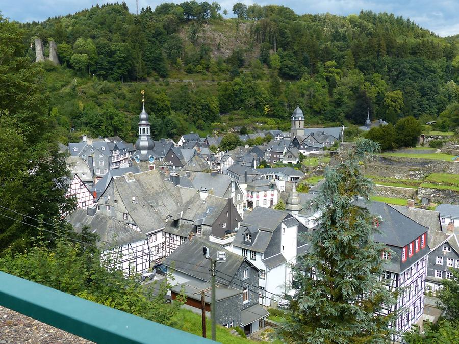 Monschau - View of the Town and the Haller-Fortification
