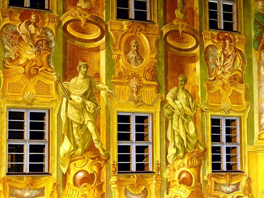 Bamberg - Wall paintings on old city hall
