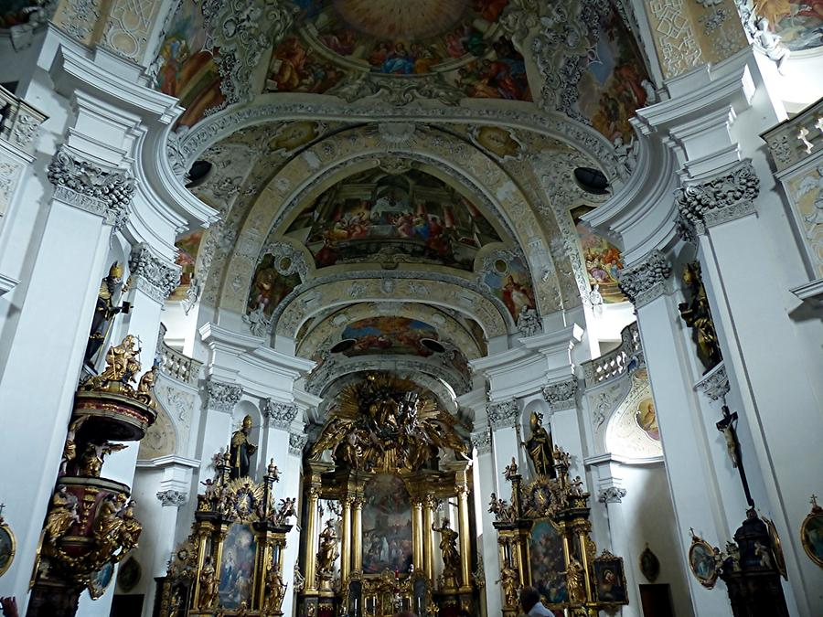 Monastery Banz - Abbey (Johann Dientzenhofer) with baroque interior