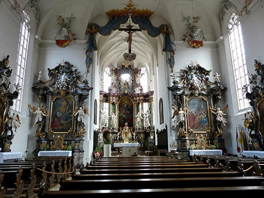 Volkach - St.Bartholomäus with baroque interior