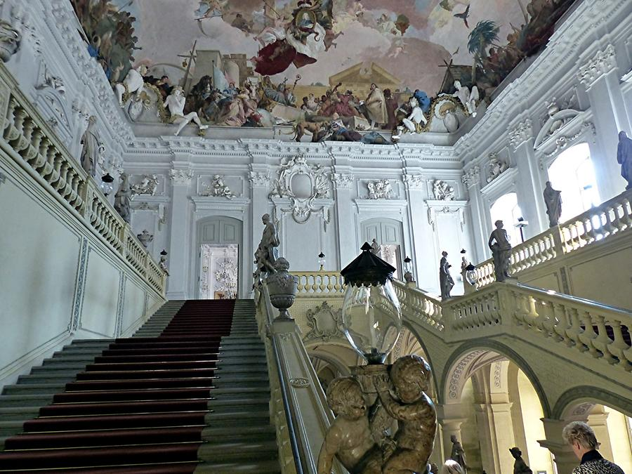Würzburg- Residency - flight of stairs