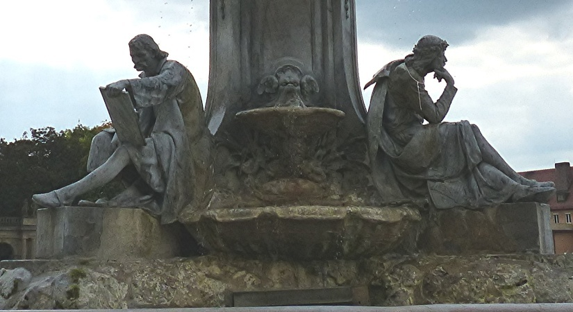 Würzburg - Detail of fountain