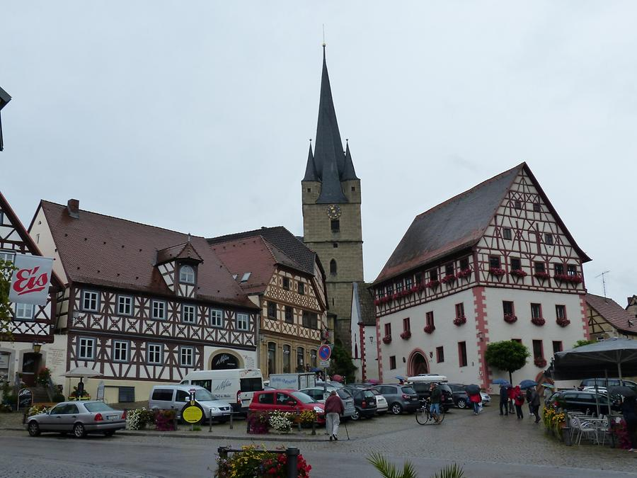 Zeil am Main - City Hall - Parish Church St. Michael - Timbered houses