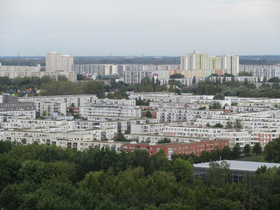 Gardens of the World - View of Marzahn from the Watch Tower 'Wolkenhain'