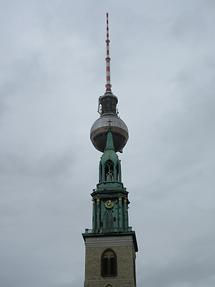 St. Mary's Church - Steeple with TV Tower