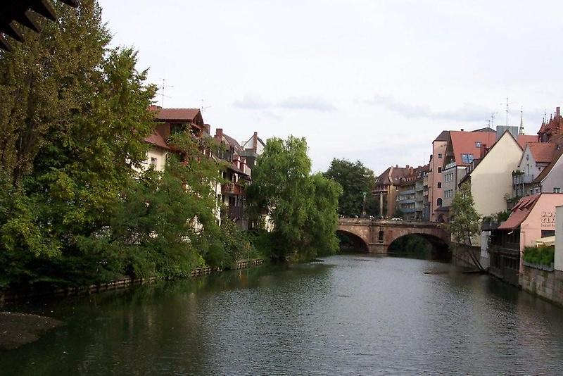 Bridge over Pegnitz river