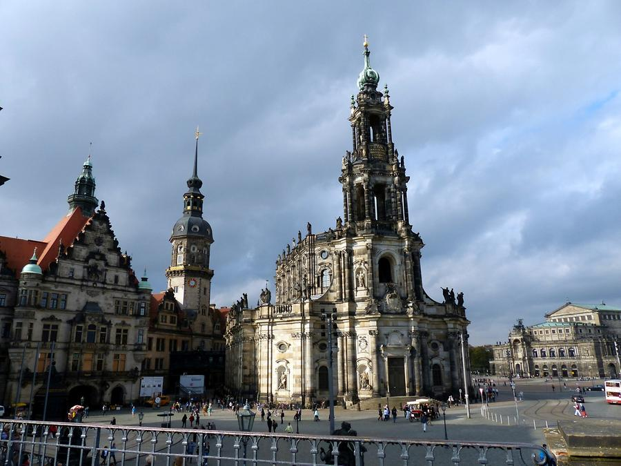 Dresden - Church of the Royal Court, Dresden Castle, Semperoper