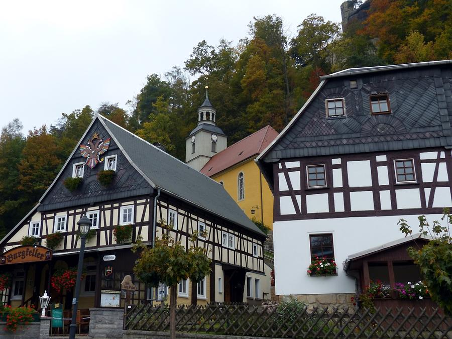 Oybin - Bergkirche and Half-timber Houses