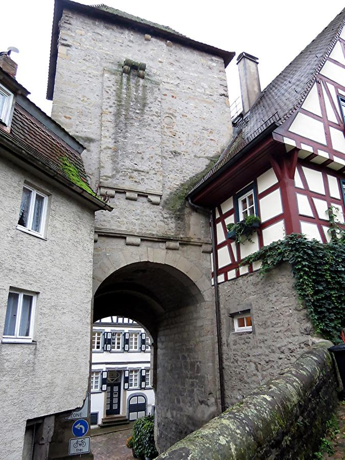 Bad Wimpfen - Imperial Palace; Flying Buttress, Archway