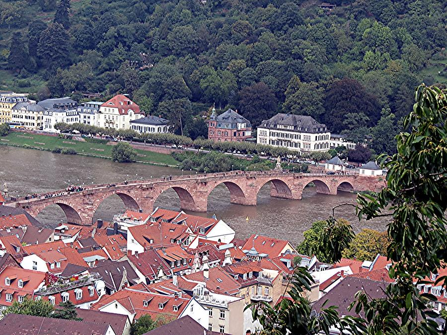 Heidelberg - Old Bridge Across the Neckar