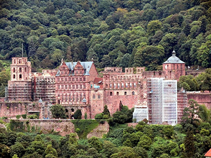 Heidelberg - Philosophers' Walk; View of the Castle