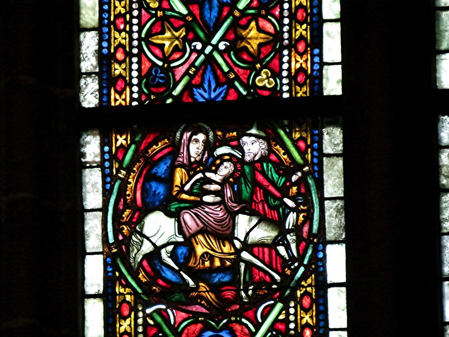 Wimpfen im Tale - Stained-Glass Window, Flight into Egypt