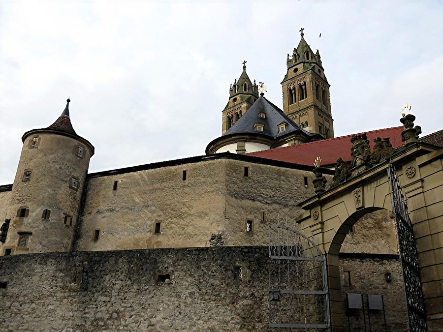 Großcomburg - Defensive Walls with Tower and Abbey Church Saint Nicholas