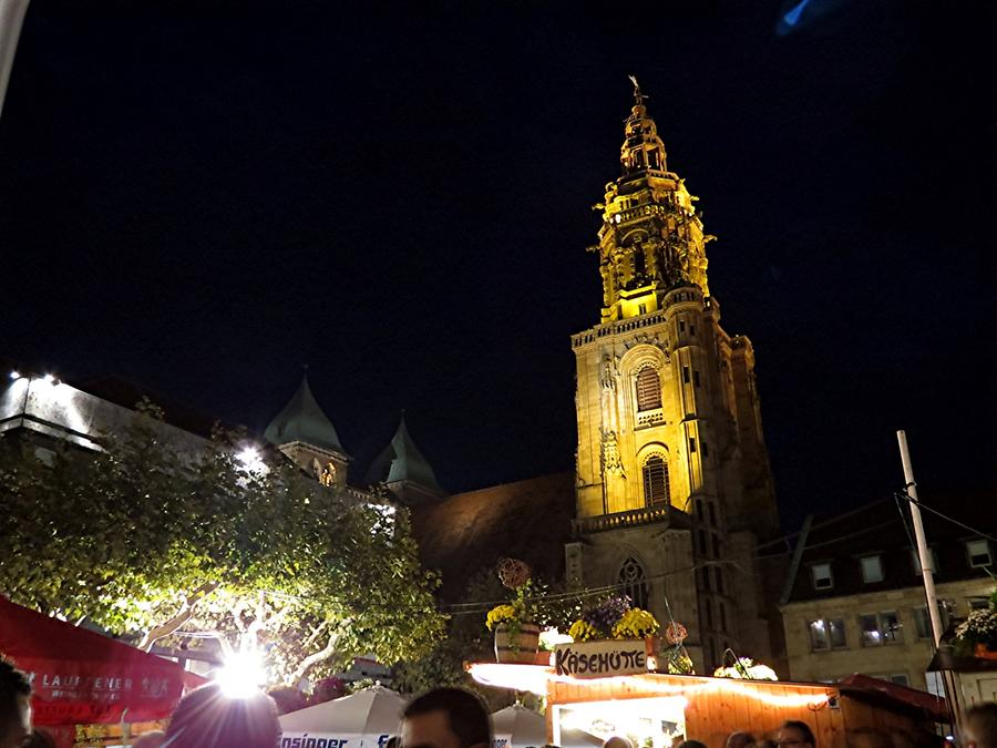 Heilbronn - St. Kilian's Church and Wine Stalls
