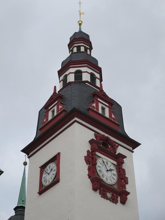 Chemnitz - Marktet Square, NewTown Hall; Clock
