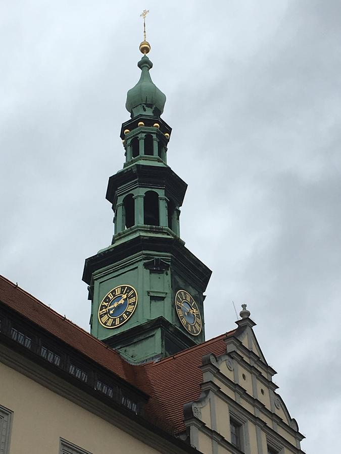 Pirna - Marktplatz 1-2, Town Hall with Clock