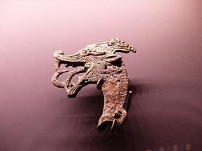 Haithabu - Gripping Beast-shaped Metal Jewelry (approx. 850 - 950 AD)