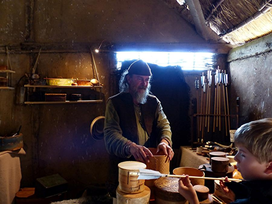 Haithabu - Viking Village; House of a Wood Craftsman