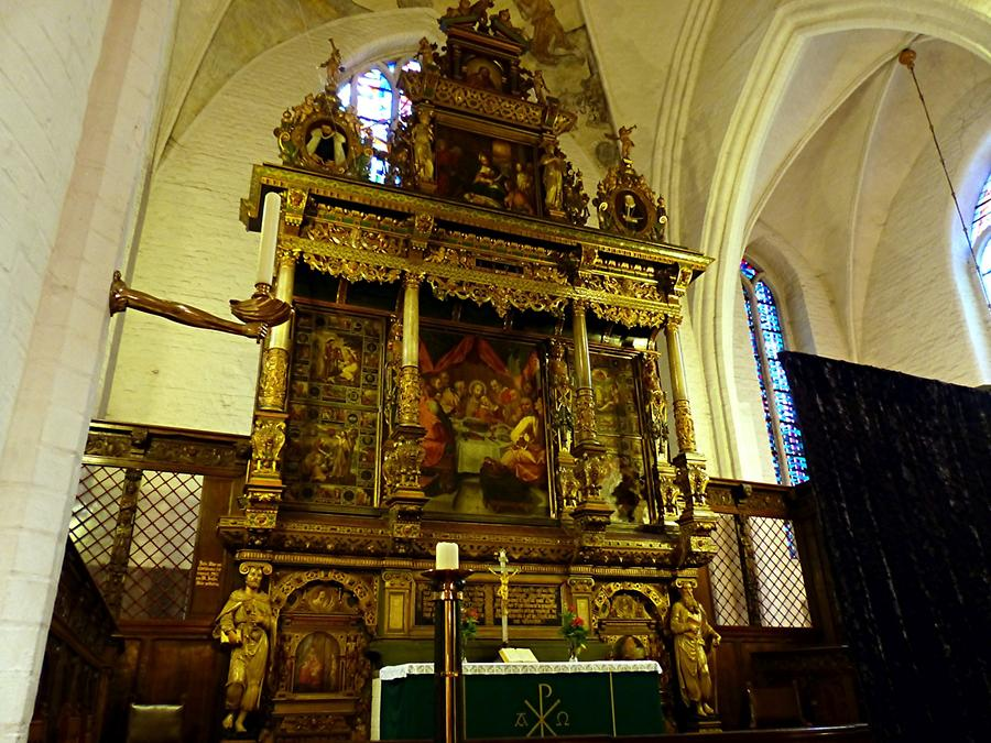 Flensburg - Church of St. Mary; Renaissance High Altar