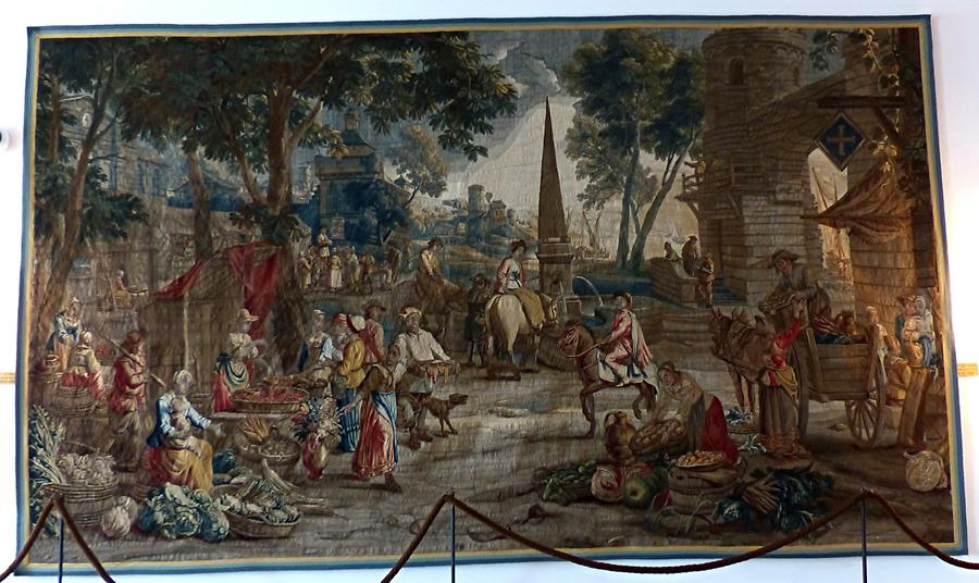 Glücksburg Castle - Flemish tapestry according to a pattern by David Teniers the Younger (1740)