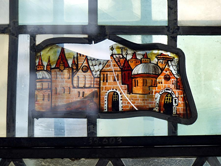 Gottorf Castle - Bay; Stained-glass Window