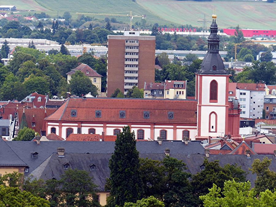 Fulda - View of the Parish Church of Saint Blaise