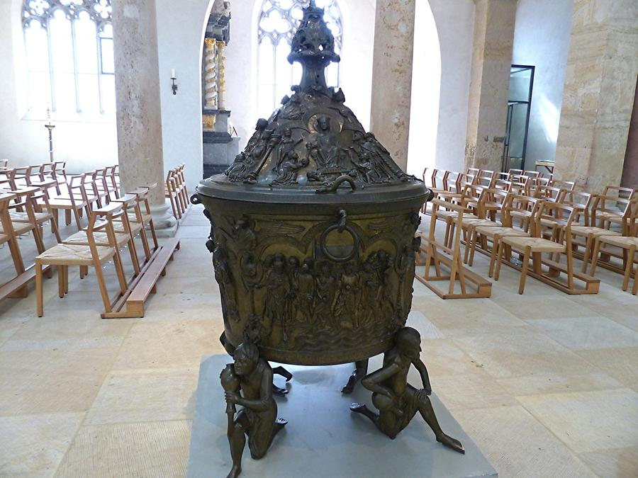 Hildesheim - Cathedral; Baptismal Font (Bronze), 13th Century
