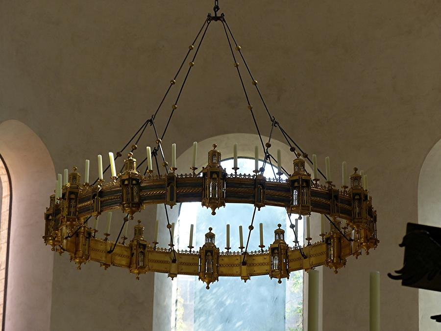 Hildesheim - Cathedral; Bishop Thietmar's Wheel Chandelier (approx 1040) in the Apse
