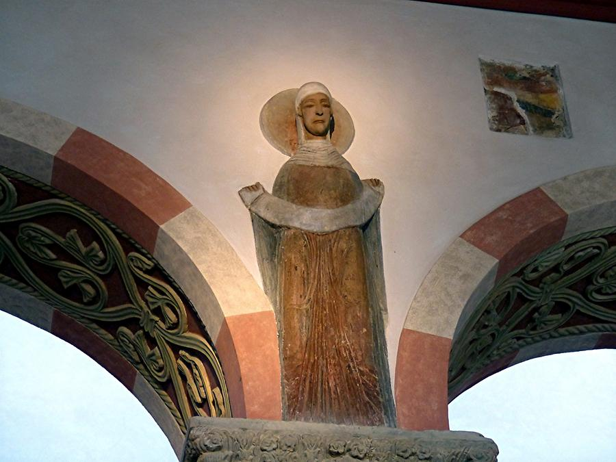 Hildesheim - St. Michael's Church; Late Romanesque Figure of a Woman (12th Century)
