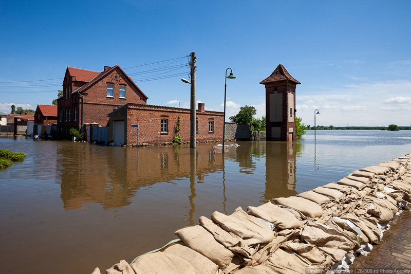 Flooding in Kehnert in June 2013, © AirPano