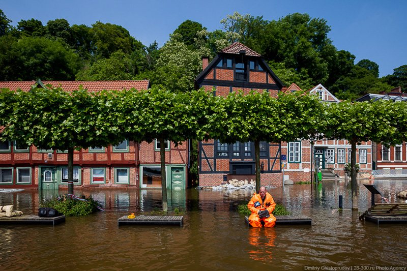 Flooding in Lauenburg, © AirPano