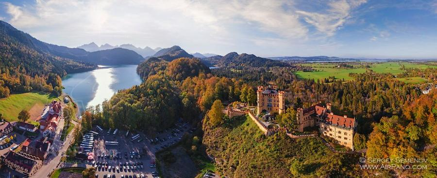 Hohenschwangau Castle and Alpsee, © AirPano