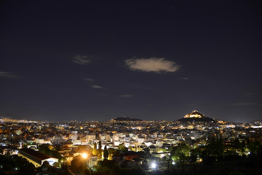 View from Filopappou Hill at Night
