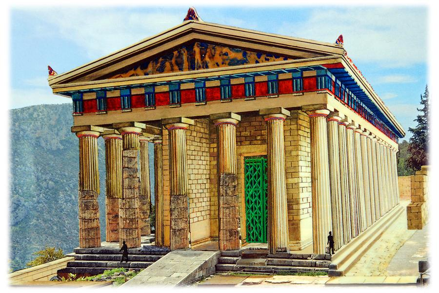 Apollo Temple Delphi Reconstruction